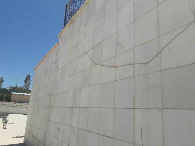 فرو ریختن دیواره های پارک سراب بعد از یک سال از زمان افتتاح
