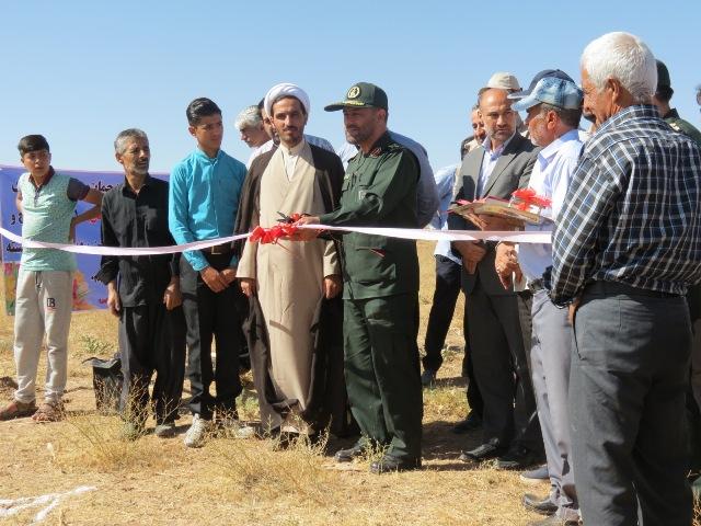 کلنگ احیای روستای متروکه علیسرخ بر زمین زده شد، سردار محمد حسین رجبی فرمانده سپاه کردستان